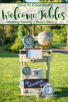 How to Coordinate your Wedding Welcome Tables and Guest Book Tables. Wedding Planning advice Green-Eyed Girl Productions