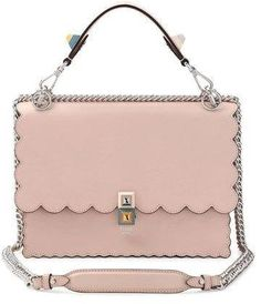 Cute Pink Purse - Perfect Spring/Summer Bag - Fendi Kan I Scalloped Leather Shoulder Bag