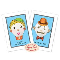 Activity Greeting Cards - Balloon Face