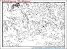 Fairy tail - Fairie's penalty game - Lineart by Engelick on DeviantArt