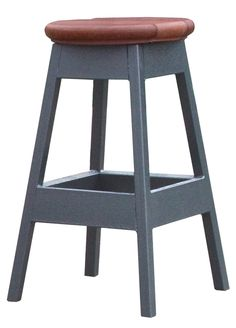 "Cal Metro D957-CSMI-A Outdoor Bar Stool, Mist. Beautiful mist color. Features ""knock down"" design and is easily assembled. Sleek metal base. Low maintenance and weather resistant synthetic materials. Hardware included."