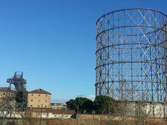 Gazometro near by Tiber river artistic area