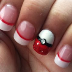 (Pokemon nails by Flash Nails. Houston, TX) I don't do my nails, but if I did, I would so do this!