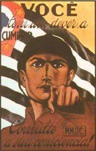 Cartaz da revolução de 1932