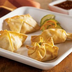 Baked Potstickers with Sweet Asian Dipping Sauce - The Pampered Chef®