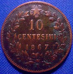 10 Centesimi del 1867