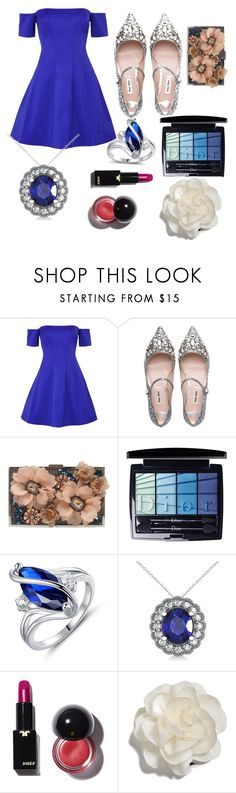 """Forever Sapphire"" by dl857786 ❤ liked on Polyvore featuring interior, interiors, interior design, home, home decor, interior decorating, Kendall + Kylie, Miu Miu, Sondra Roberts and Christian Dior"