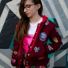 Senpai Bomber Jacket PDF Pattern by Sew Chibi Designs. Boys, Girls, Non Binary Fashion for kids and teens (and some adults) ages Sewing Patterns For Kids, Felt Patterns, Applique Patterns, Sewing For Kids, Applique Templates, Owl Templates, Crown Template, Heart Template, Flower Template