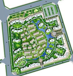 Residential in China Landscape Diagram, Landscape Design Plans, Urban Landscape, Urban Design Plan, Plan Design, Site Design, Site Layout Plan, City Layout, Site Plans