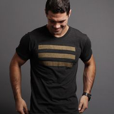 Black T Shirt for men. Black and Gold.