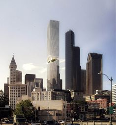 ODA Introduces New Approach to Tower Building in Seattle | ArchDaily New York Sites, Downtown Seattle, Seattle Usa, Tower Building, Co Working, Design Strategy, Garden Spaces, Outdoor Areas, Stunning View