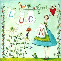 Quadratische Postkarte ~ Mila Marquis ~ Good Luck