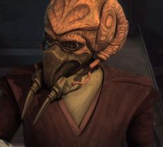 Plo Koon was a Kel Dor male from the planet Dorin who became a Jedi Master and a lifetime member of the Jedi High Council, holding the position after the Stark Hyperspace War to the end of the Galactic Republic in 19 BBY. During the Clone Wars, Koon served as a Jedi General in the Grand Army of the Republic, leading soldiers in campaigns, fighting on Geonosis and at Kaliida Shoals amongst others. Koon was also an accomplished starfighter pilot.