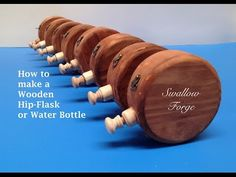 How to make a Wooden Water Bottle or Hip Flask for reenactment, steampunk, Larp or cosplay - YouTube