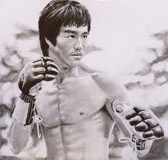 Bruce Lee - Enter The Dragon Drawing  Wow! This came out Truly very Good.