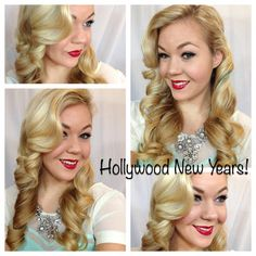 Hollywood Glam Hair Tutorial- NEW YEARS!