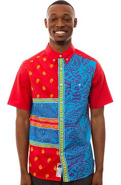 Crooks and Castles Shirt Avant Pais Buttondown in Red KARMA LOOP REP - callmeboots0628