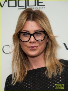 Ellen Pompeo tries on some funky eyeglasses at the CFDA launch of the fourth annual design series for Vogue Eyewear on Tuesday evening (January 14) in Beverly Hills,…