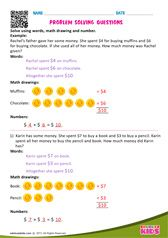 Fun learning online worksheets for Kids, online math printable worksheets Color Worksheets For Preschool, Math Addition Worksheets, Money Worksheets, Kindergarten Math Worksheets, Preschool Math, Maths, Grade Spelling, Math Word Problems, Math Numbers