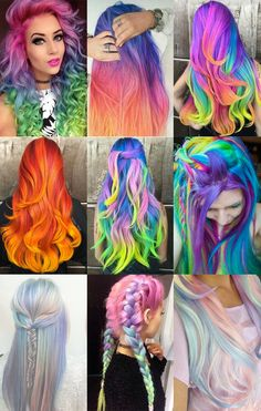 Not sure if I'd ever have so many crazy colors together at once, but it sure looks fun!