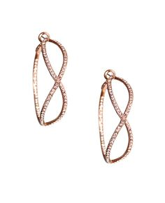The Infinity Crystal Hoop Earrings I Love Jewelry, Jewelry Box, Jewelery, Jewelry Accessories, Delicate Jewelry, Jewelry Ideas, Ring Earrings, My Style, Infinity