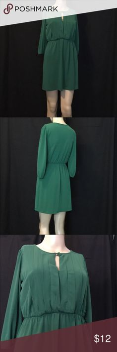 """Sweet Storm Green Dress Green Dress Size S by Sweet Storm  98% Polyester  5% Spandex   With my tape measure   33"""" Length- Shoulder down to hem  29"""" length- center Front  31"""" length-center back  13"""" shoulder flat across  16.5"""" Bust- underarm flat across  12"""" Waist flat across   16.5"""" Sleeve length   My mannequin size is 33""""x24""""x33 and 5'8"""" tall , this dress fits perfectly.  #548 Sweet Storm Dresses Mini"""