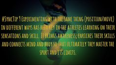 #SyncTip 9 https://www.facebook.com/synchroswimblog/videos/1666756673598774/  #SyncTip 9 Experimenting with the same thing (position/move) in different ways has been key in the athletes learning on their sensations and skill. It brings awareness, enriches their skills and connects mind and body so that ultimately they master the sport and its limits.   #SynchroNowBreatheLater for full video visit YouTube Spin Drills Synchronized Swimming #LeiSynchro #Synchro