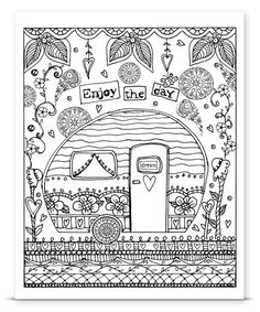 Canvas On Demand Camper DIY Coloring Wall Art | zulily