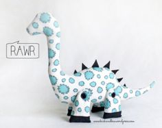 DALE the DIPLODOCUS Plushie Sewing Pattern PDF by InkedPixels