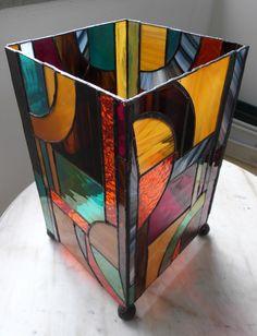 lampe vitrail tiffany art deco : Luminaires par la-verreriemilie