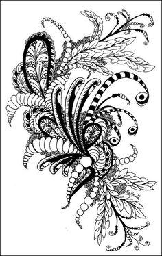 Zentangle Inspired | PRaile: http://www.flickr.com/photos/praile/6871257113/in/set-72157604143001757