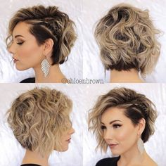"""Easy Hairstyle Tutorials For Girls With Short Hair - Hair ., Easy hairstyles, """" Easy Hairstyle Tutorials For Girls With Short Hair - Hair Tutorials Source by mbneronskaya. Bob Haircuts For Women, Best Short Haircuts, Short Hair Cuts For Women, Haircut Short, Haircut Bob, Haircut Styles, Curly Bob Haircuts, Braids For Short Hair, Girl Short Hair"""