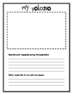 My Volcano Worksheet