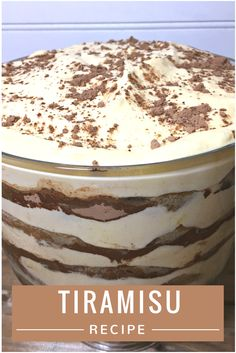 Looking for a delicious & easy dessert recipe? Make people smile in your household with our Tiramisu Recipe here!