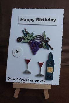 Quilled Birthday card made by Quilled Creations by Me