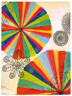 Sweet William | Flower Circles - illustration on archival paper.  renegadecraft.com/london-home