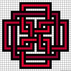 Celtic design perler bead pattern converted to needlepoint. Celtic Patterns, Alpha Patterns, Celtic Designs, Celtic Cross Stitch, Cross Stitch Charts, Cross Stitch Patterns, Bead Loom Patterns, Perler Patterns, Beading Patterns