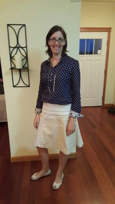 I don't wear that many button downs, but I like this one. It's a fun, light fabric, and has nice details.