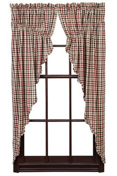 Victory Scalloped Lined Prairie Curtains