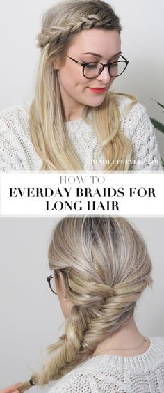 HOW TO | Easy everyday braids for long hair | How to fishtail plait