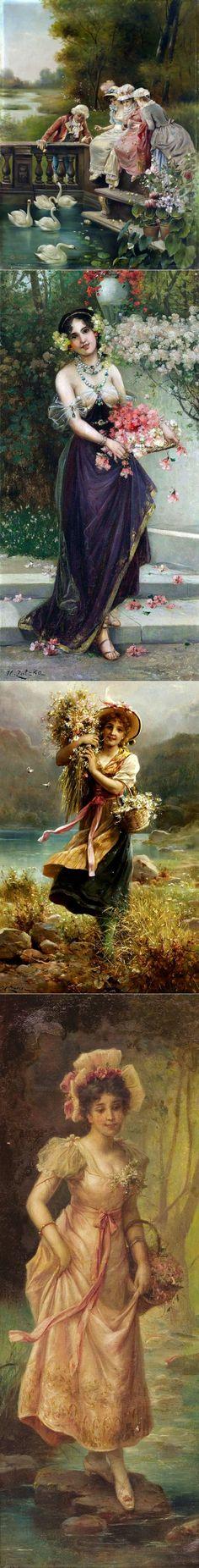 Hans Zatzka (Ханс Зацка, 1859-1945, Austrian) 1 | искусство | Постила