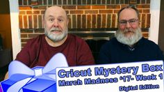 """Cricut Mystery Box - March Madness 2017 Unboxing - #1 Digital - http://www.craftsbytwo.com/cricut-mystery-box-march-madness-2017-unboxing-1-digital/  It's March Madness! No, not sports. The Cricut Mystery Box! It's the first of many for March and this box is digital. Join us to see what we received!  Visit our blog for easy shopping links, the best coupon code, with a gallery and list of the Mystery Box contents if you don't want to watch the video!  Check out """"Cricut M"""