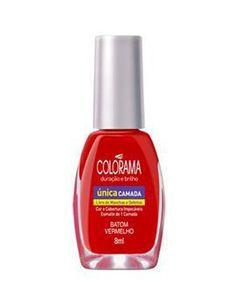 Esmalte Colorama Única Camada Batom Vermelho - Coisas de Caveira