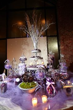 Love the rock candy on the centerpiece