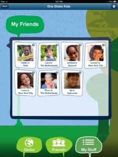 One Globe Kids (app + website) takes your children around the world in a most creative way