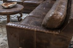 Gorgeous chocolate brown color distressed sectional with comfort and great style. Excellent craftsmanship and made in the U. Sectional Sofa With Recliner, W 6, Home Living Room, Home Furnishings, Arms, Track, Chocolate, Brown, Leather