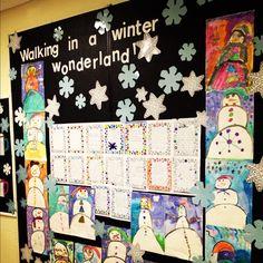 Bulletin board for winter!