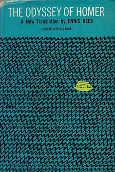 Vast ocean and a strong sense of journey or exploration is what i just read from just looking at the cover. This is a cover made for the book 'The Odyssey of Homer' which has the main character returning after the fall of troy however while coming back much as happened in his homeland. Because of the size of the boat and colour in this cover we get a great sense of tragedy about the story.