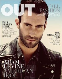 Out Magazine Cover with Adam Levine