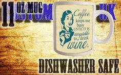 Funny wine mug - www.etsy.com/customprintuk